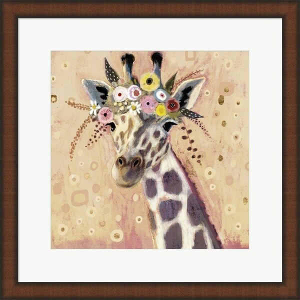 Victoria Borges 'Klimt Giraffe I' Framed Art