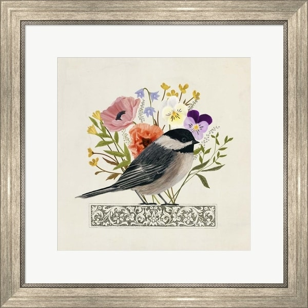 Victoria Borges 'Avian Collage II' Framed Art