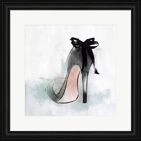 Isabelle Z 'Ribbon Heel' Framed Art