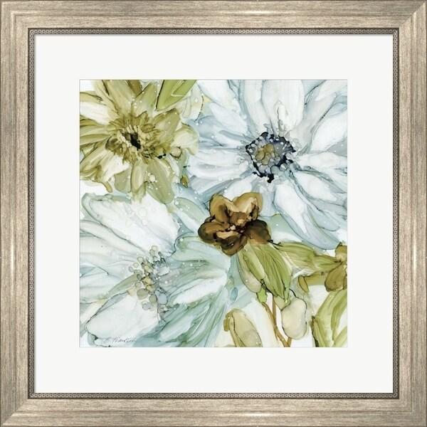 Elizabeth Franklin 'Seaglass Garden I' Framed Art