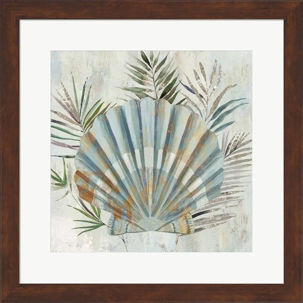 Aimee Wilson 'Turquoise Shell II' Framed Art