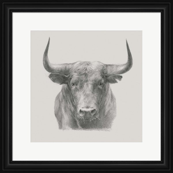 Ethan Harper 'Black Bull' Framed Art