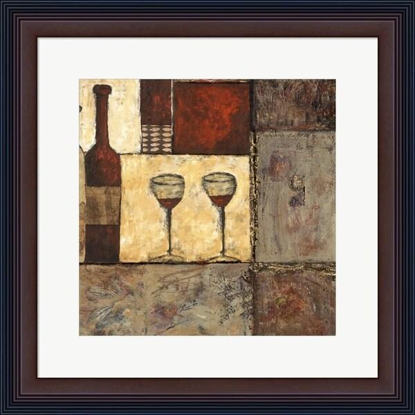Elizabeth Franklin 'Wine for Two II' Framed Art