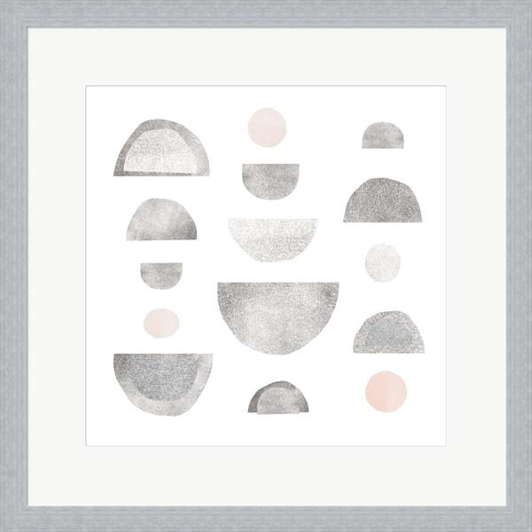 Emma Scarvey 'Half Circles I' Framed Art