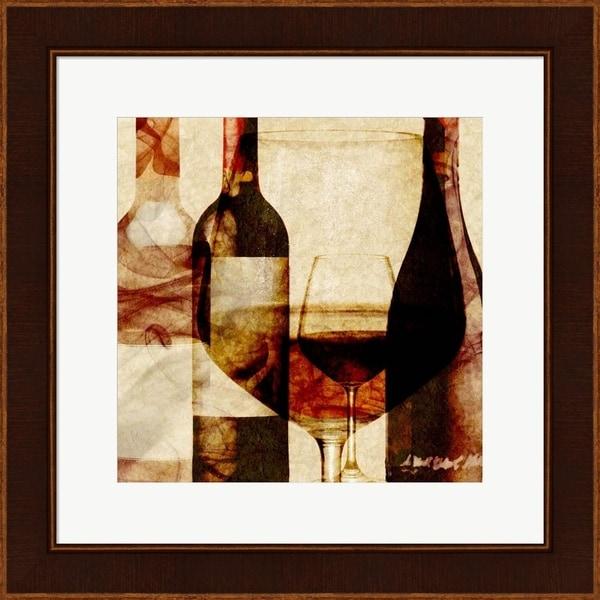Alonzo Saunders 'Smokey Wine II' Framed Art