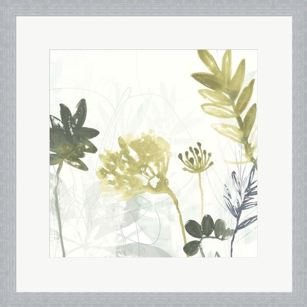 June Erica Vess 'Tropical Stems I' Framed Art
