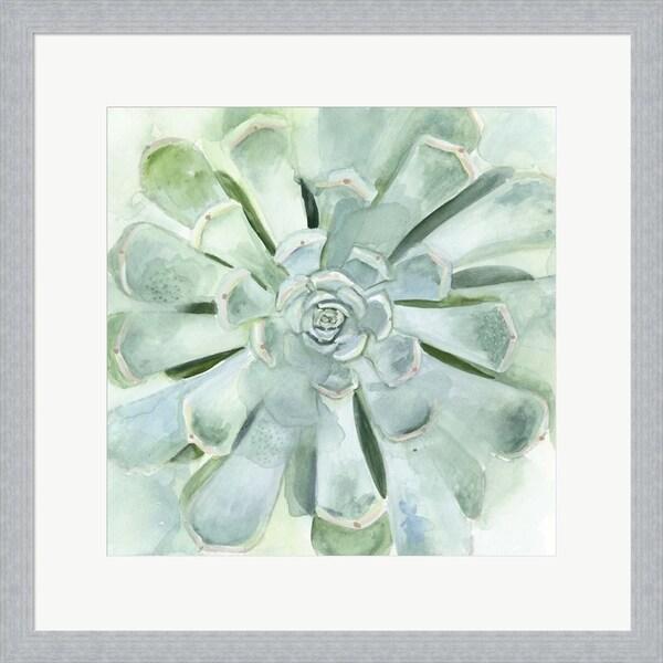 Victoria Borges 'Verdant Succulent IV' Framed Art