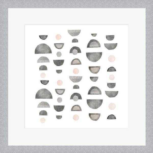 Emma Scarvey 'Half Circles III' Framed Art