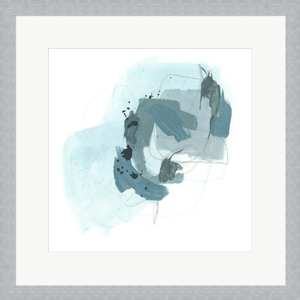 June Erica Vess 'Aqua Stellar II' Framed Art
