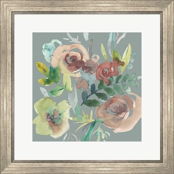 Chariklia Zarris 'Rosealeah V' Framed Art