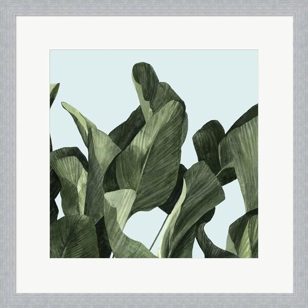 Emma Scarvey 'Celadon Palms II' Framed Art