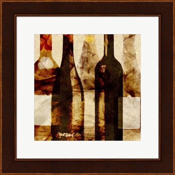 Alonzo Saunders 'Smokey Wine III' Framed Art