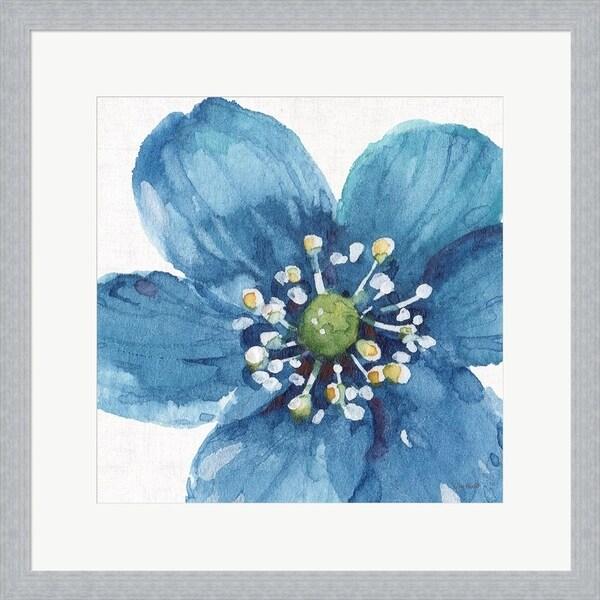 Lisa Audit 'Blue and Green Garden V' Framed Art
