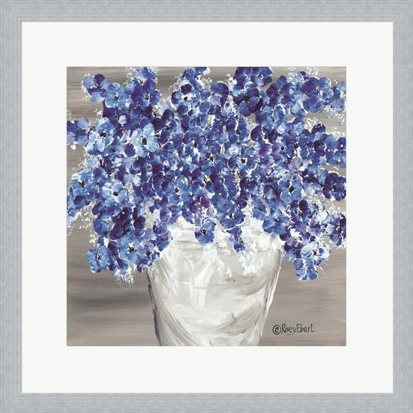 Roey Ebert 'Blooming Blues' Framed Art