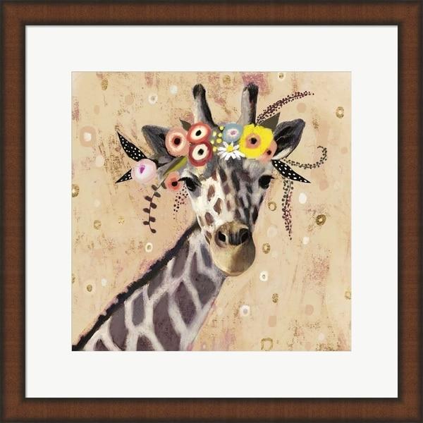 Victoria Borges 'Klimt Giraffe II' Framed Art