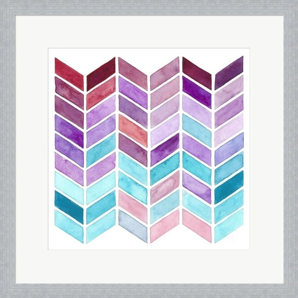 Regina Moore 'Geometric Trance I' Framed Art