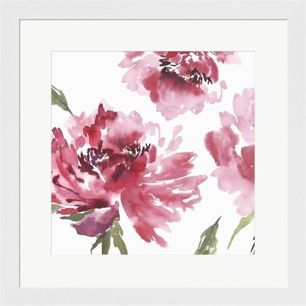 Isabelle Z 'Crimson Blossoms II' Framed Art