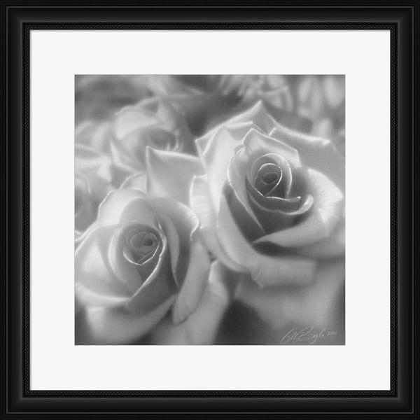 Collin Bogle 'Rose Pair B&W' Framed Art