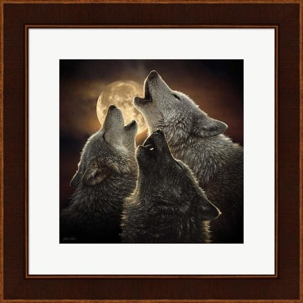 Collin Bogle 'Wolf Trinity' Framed Art