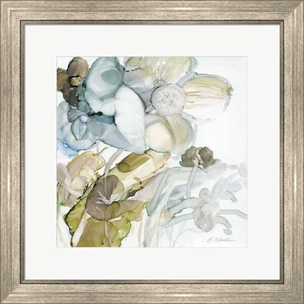 Elizabeth Franklin 'Seaglass Garden III' Framed Art