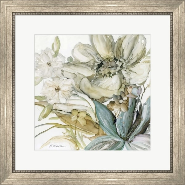 Elizabeth Franklin 'Seaglass Garden II' Framed Art