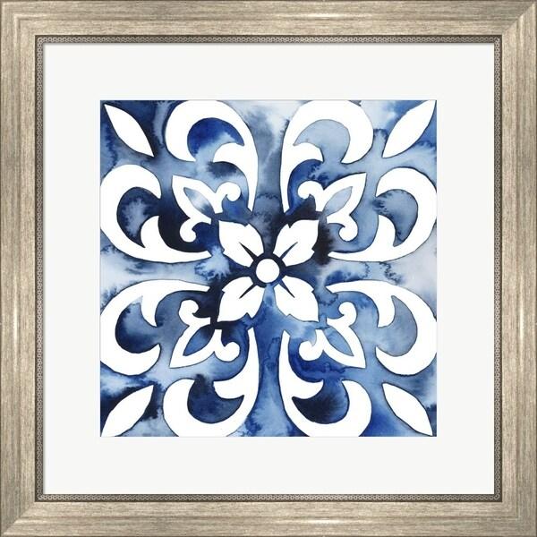 Grace Popp 'Cobalt Tile II' Framed Art