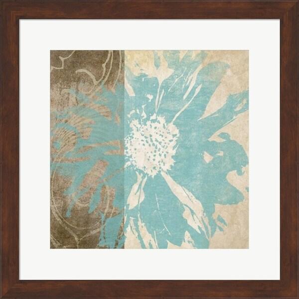 Alonzo Saunders 'Flower Flake II' Framed Art