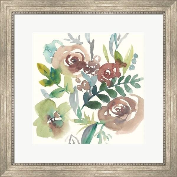 Chariklia Zarris 'Rosealeah I' Framed Art