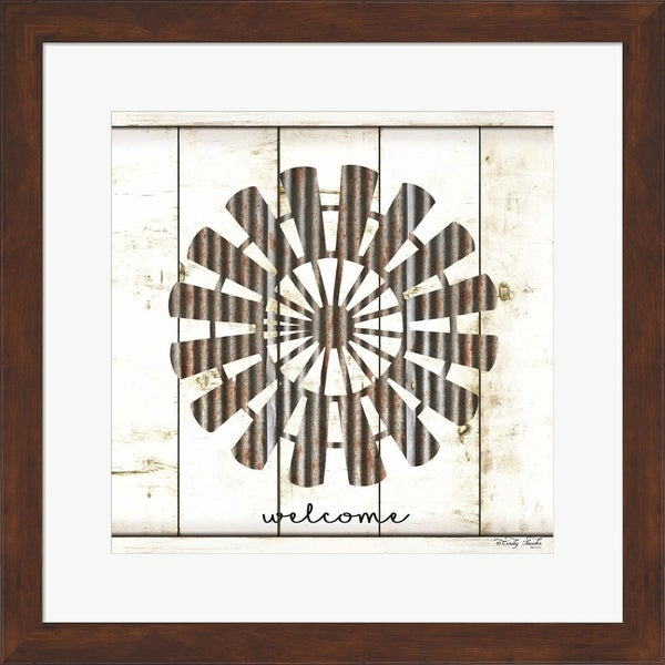Cindy Jacobs 'Windmill Welcome' Framed Art