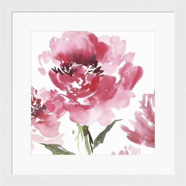 Isabelle Z 'Crimson Blossoms I' Framed Art