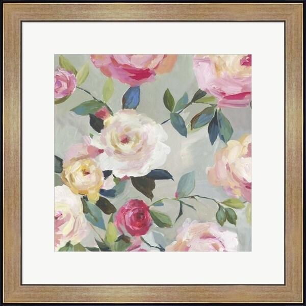 Asia Jensen 'Cascade of Roses II' Framed Art
