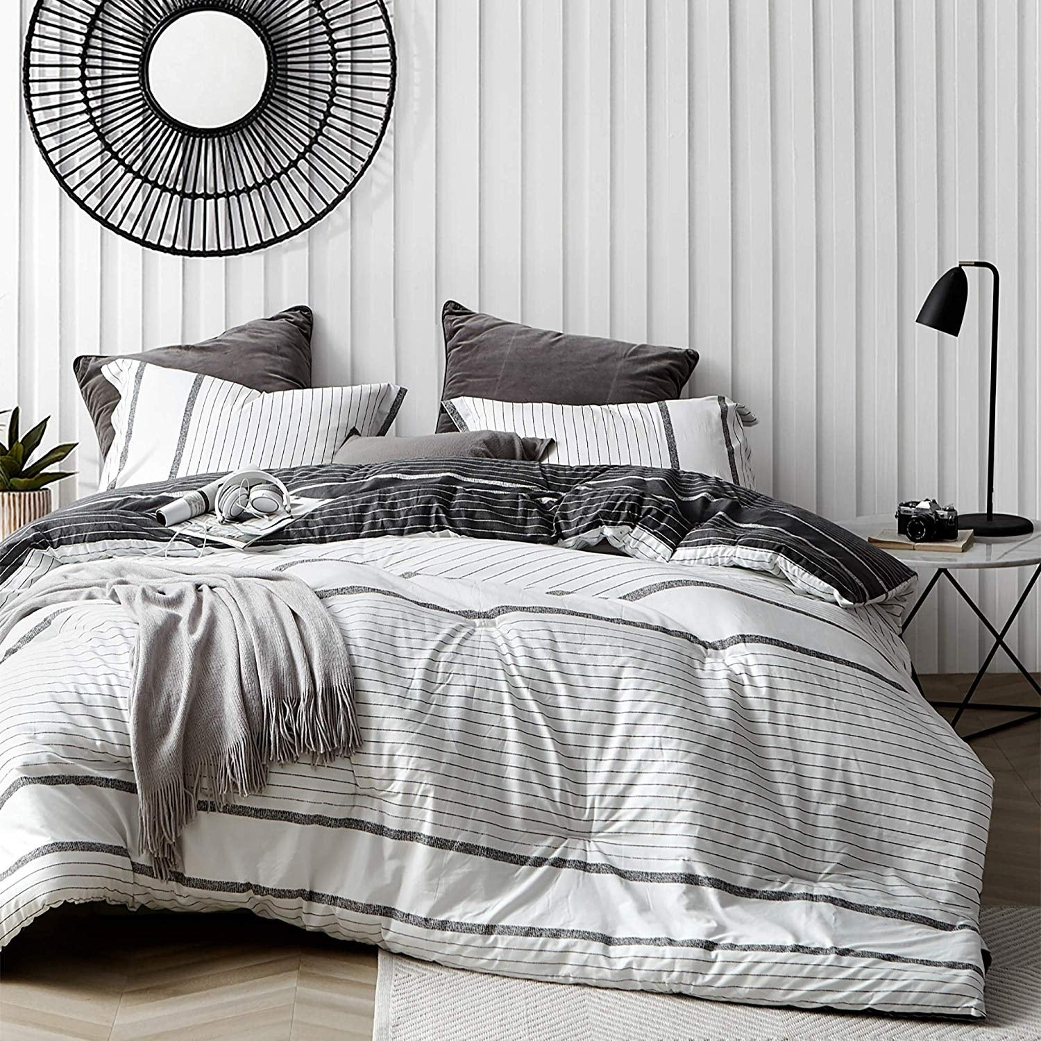 Kappel Black And White Stripes Comforter 100 Cotton On Sale Overstock 29238345