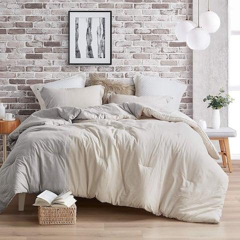 Half Moon - Gray and Cream - Yarn Dyed Comforter