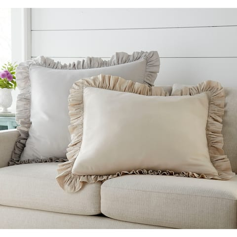 Stone Cottage Asher Ruffled European Sham Pair