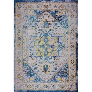 LaDole Rugs Traditional Mat Area Rug Carpet in Blue Multicolor