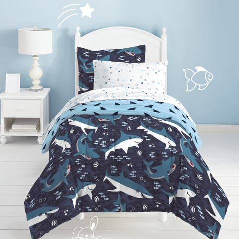 Dream Factory Sharks 7-piece Microfiber Bed in a Bag with Sheet Set