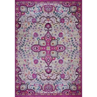 LaDole Rugs Darcy Persian Traditonal Design Mat in Pink