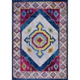 LaDole Rugs Traditional Style Mat Area Rug Carpet in Purple Blue