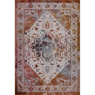 LaDole Rugs Modena Traditional Mat in Brown Cream