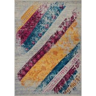 LaDole Rugs Smooth Mat Rug in Abstract in Multicolor