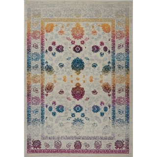 LaDole Rugs Smooth Mat Rug in Floral in Multicolor
