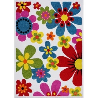 LaDole Rugs Floral Pattern Bright Beatuiful Area Rug in Multicolor