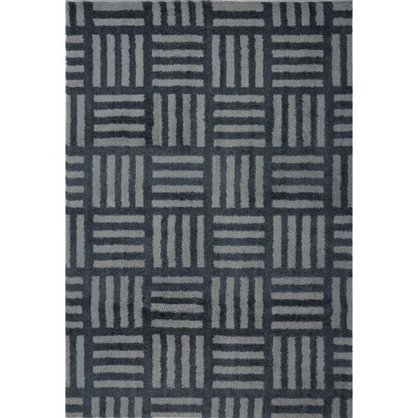LaDole Rugs Stylish Modern Abstract Oknagon Soft Grey Area Rug 3x5