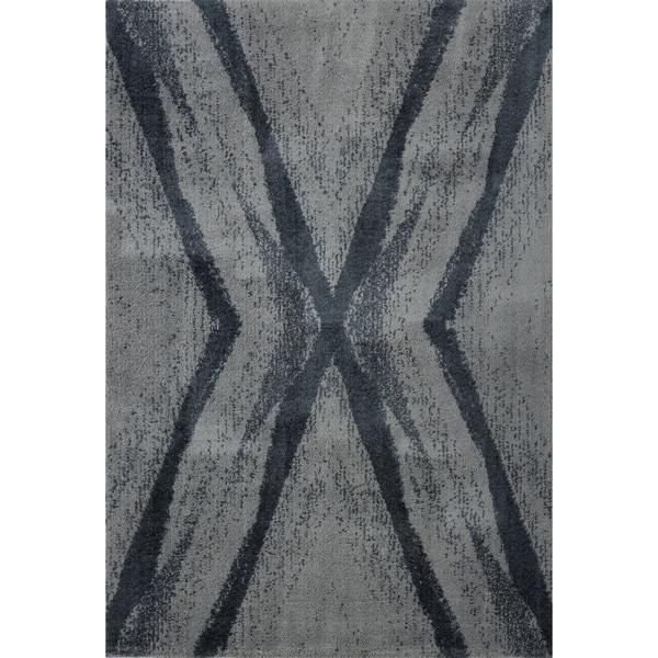 LaDole Rugs Stylish Modern Abstract Jasper Soft Grey Area Rug 3x5