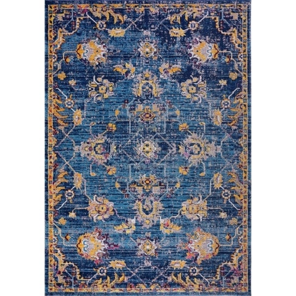 LaDole Rugs Timeless Tremont Traditional Blue Outdoor Mat