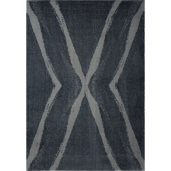 LaDole Rugs Stylish Modern Abstract Vancouver Soft Grey Area Rug 3x5
