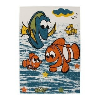 LaDole Rugs Kids Area Rug Fish and Sea Theme in Multicolor