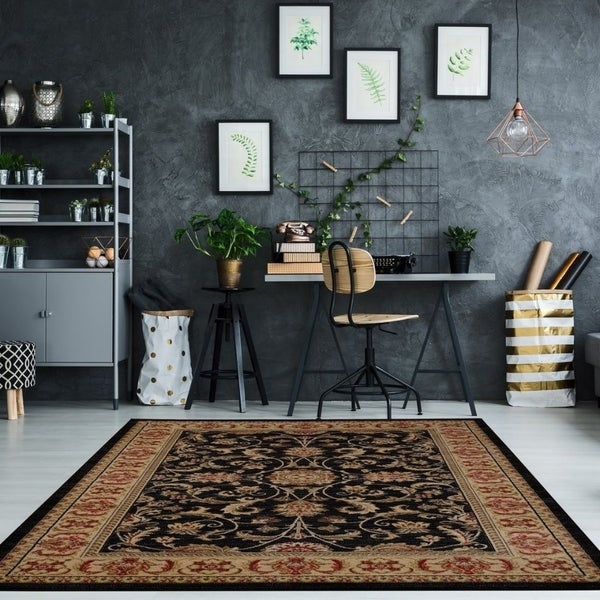 LaDole Rugs Medallion Traditional Style Beautiful Area Rug Runner in Black