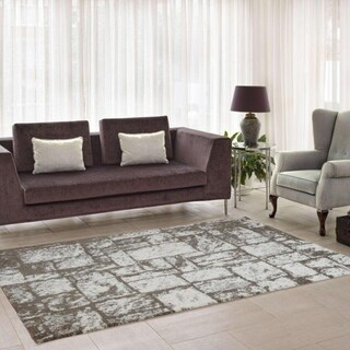 LaDole Rugs Contemporary Abstract Soft European Area Rug in Beige