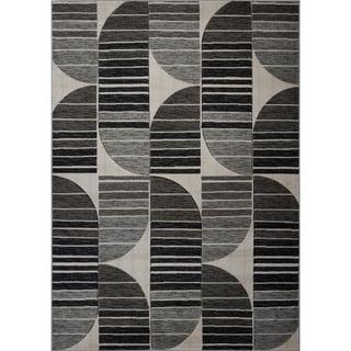 LaDole Rugs Beautiful Soft Modern Area Rug in Dark Grey Black